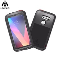 LOVE MEI Powerful Aluminum Metal Armor Cases For LG V30 V20 V10 V40 Shockproof Full Body Cover For LG V35 V50 ThinQ Coque Shell