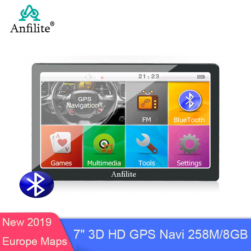 Anfilite Truck GPS Navigation Gps-Map Avin Wince Bluetooth 800MHZ 256M Europe 8G FM 7-Capacitive title=