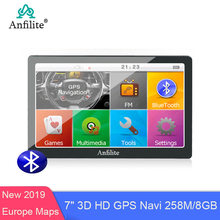 "Anfilite 7 ""capacitif 256M 8G bluetooth avin camion GPS Navigation voiture Gps navigateur wince ce6.0 800MHZ FM 2019 Europe gps carte(China)"