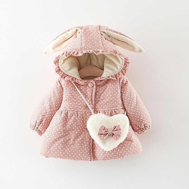 2019 ropa de bebé recién nacido con capucha floral chaqueta acolchada de algodón para 1 año ropa de cumpleaños para niñas abrigo