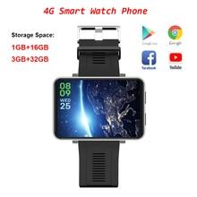 DM100 WiFi 4G akıllı saat 3GB + 32GB GPS Bluetooth akıllı saat telefon görüşmesi 5MP kamera su geçirmez spor akıllı saat için android 7.1