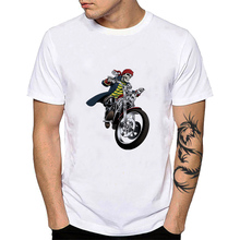 Unisex Vintage Cafe Racer ropa deportiva motero Moto carreras Moto algodón Tops Tee Speed Racer Moto hombres camiseta YH085