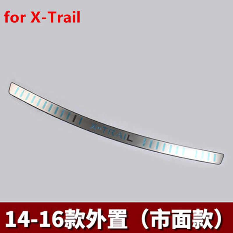 Pour Nissan x-trail X Trail T32 2014-2016 style de voiture en acier inoxydable pare-chocs arrière protecteur seuil coffre bande de roulement garniture
