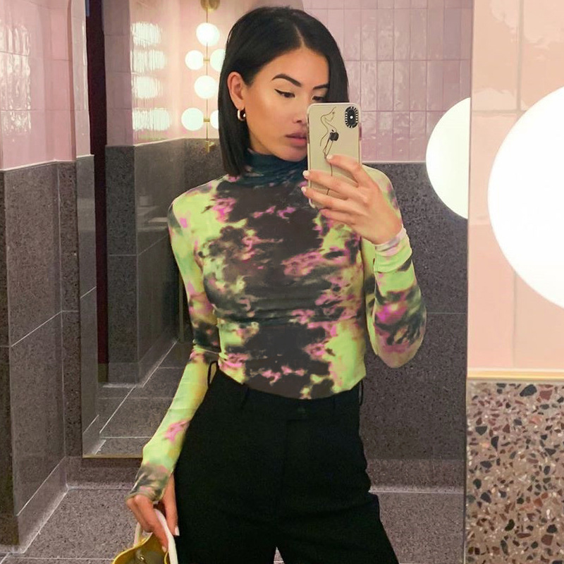 Women Long Sleeves Camouflage Print Casual Club Party Crop Tops Coat Jacket