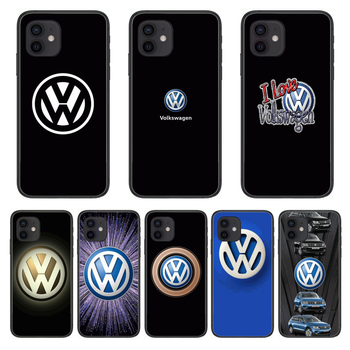 Shockproof Volkswagen Luxury Style Phone Case cover For iphone 12 pro max 11 8 7 6 s XR PLUS X XS SE 2020 mini black cell she image