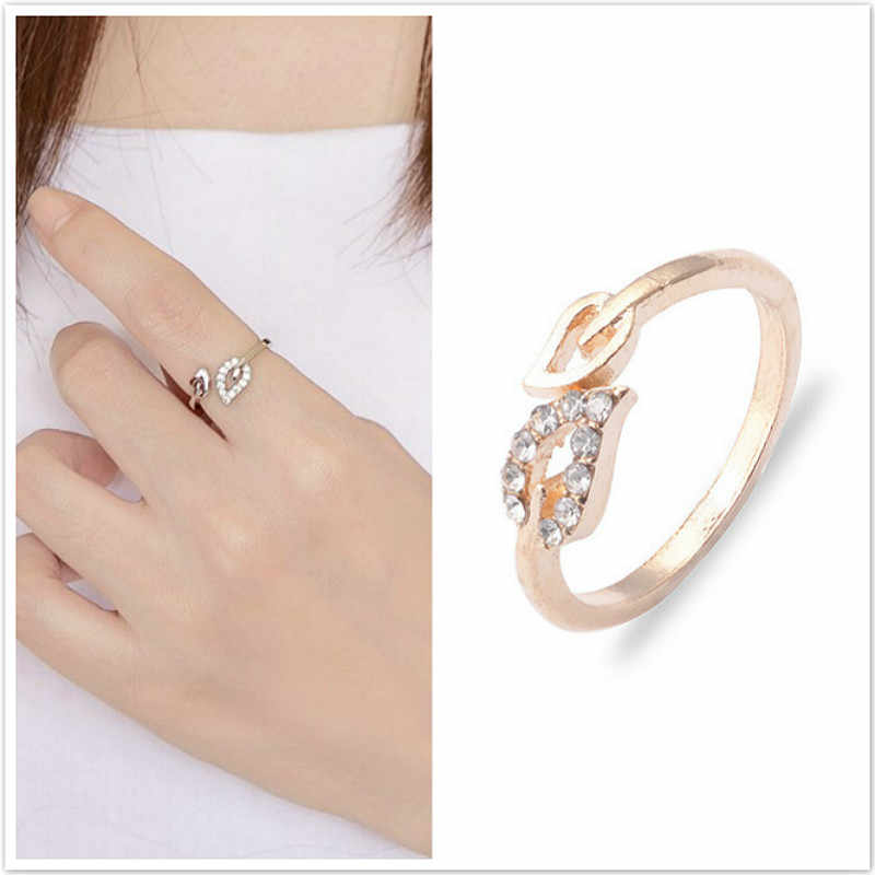 Hot Sale Fashion Alloy Heart Resizable Rings for Lovers' Valentine's Gift Jewelry