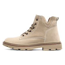 2019 Men Boots Flock Leather Lace-Up mens winter shoes Lightweight footwear 2#15/15D50