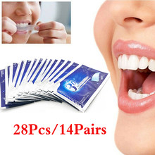 Pasta de dientes seca para blanqueamiento dental, Gel adhesivo para blanquear los dientes, banda de blanqueamiento, pasta dental de alta elasticidad para el cuidado bucal, higiene dental, 28 Uds.