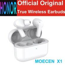سماعات أذن لاسلكية حقيقية من HONOR CHOICE TWS X1 ستيريو بميكروفون مزدوج بخاصية إلغاء الضوضاء وتقنية البلوتوث 5.0 مع مستشعر باللمس سماعات SBC AAC