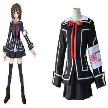 Anime Vampire Knight Cosplay Kuran Yuki Costumes Vampire Knight Cosplay Costume Yuki Cross White or Black Womens Dress uniform фото