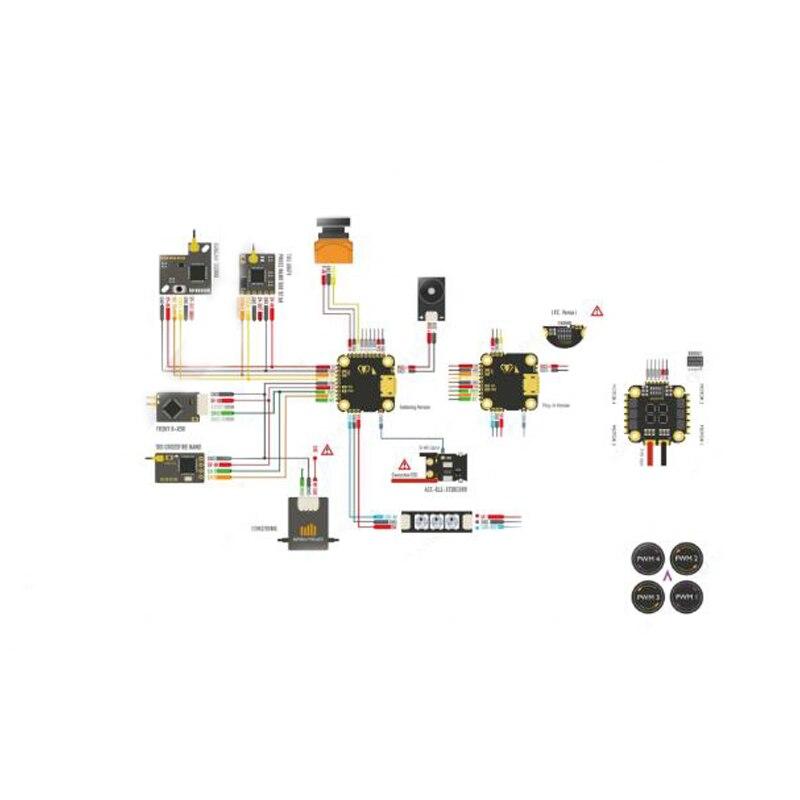 1Set controlador de vuelo 4 en 1 CES MINI Pila BEC 5 V/1.5A para DIATONE MAMBA F411 NANO 13A FPV Racing RC Drone Quadcopter partes - 5