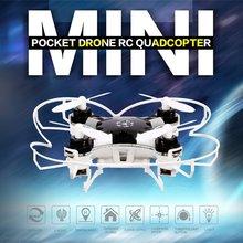 HOT FQ777 124 2.4G 4CH Six-axis Gyro Mini Drone 360 Degree Flip Headless Mode One Key Return RC Pocket Quadcopter RTF with Light цена 2017