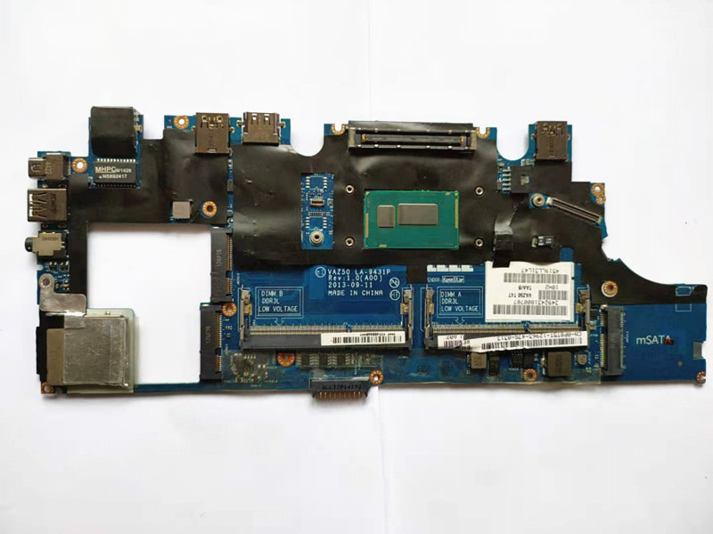 for dell latitude E7240 motherboard i5-4310 CN-0GMYR8 0GMYR8 VAZ50 LA-9431P laptop mainboard 100% well working 5