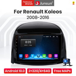 Junsun V1 Pro 4G Android 10.0 4G+64G Car Radio Multimedia Player For Renault Koleos 2008 - 2016 GPS Navigation no 2din dvd radio