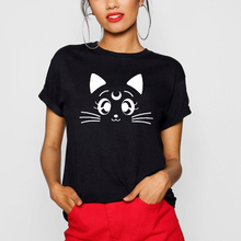 Sailor Moon Short Sleeve T Shirt Teenager Girls Cotton T-shirt Tops Women O Neck Tees Summer Harajuku Tee Shirts For Female