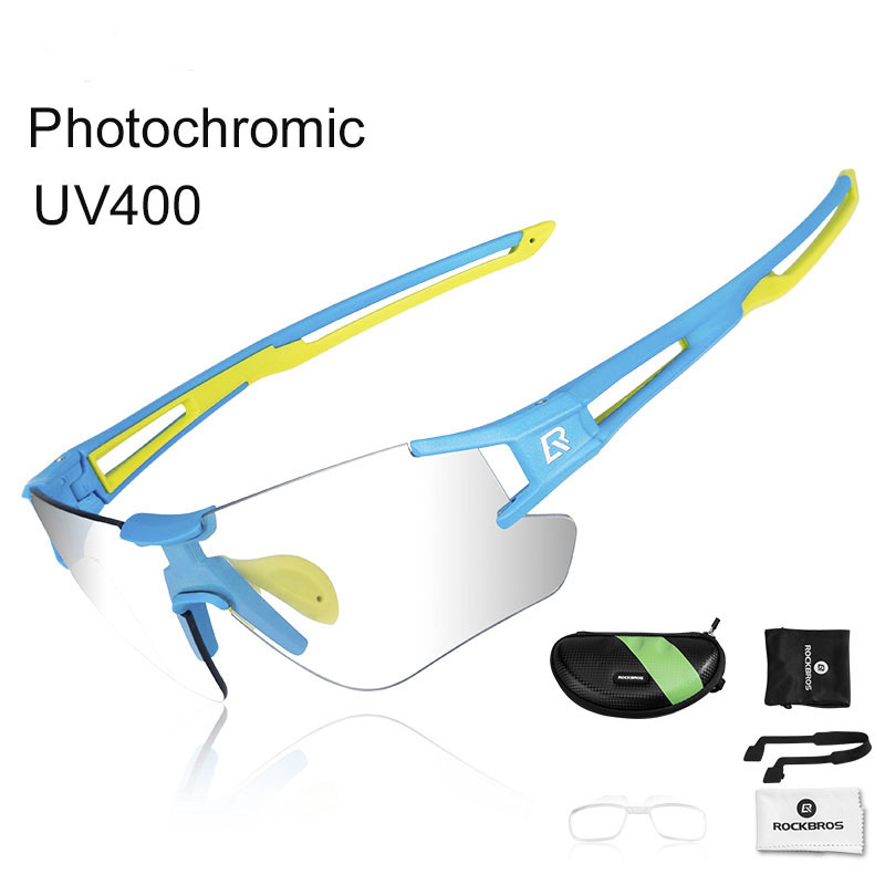 ROCKBROS Photochromic Cycling Bicycle Bike Glasses Outdoor Sports MTB Bicycle