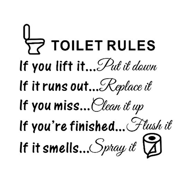 Toilet Rules Dialogue Stickers 2