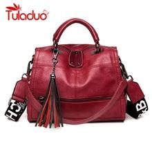 Vintage Handbags For Women 2019 Black Female Leather Handbag High Quality Big Bags Top-handle Bags Casual Tote Sac A Main Femme цены