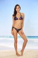 Quality Assurance Three Years Gradient Bikini with Chest Pad Wireless Cup Mercerized Cotton 44 Swimwear New Style Bikini