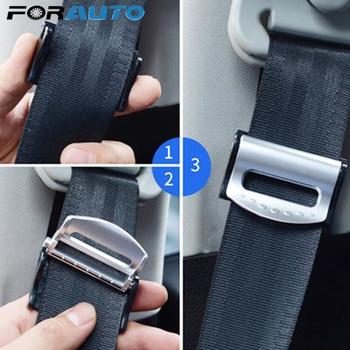 FORAUTO 1 par de cinturones de seguridad ajustables, hebilla de tope, Clip portátil para cinturón de seguridad de coche, Clip de cinturón de seguridad de coche, abrazadera de estilo de coche