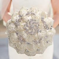 WifeLai-ручная работа, красные искусственные розы, цветы, стразы, невесты, подружки невесты, буквет, бриллиантовая брошь, свадебный букет, цвето...