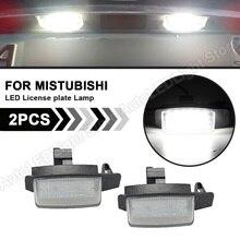 For Peugeot 4007 Citroen C Crosser Mitsubishi Lancer Sportback Outlander II III Car LED License Number Plate Light Lamp 2Pcs