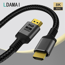 Cavo compatibile HDMI 1M 2M 3M 8K 60Hz 4K 120Hz per Xiaomi Samsung TV cavi digitali cavo 2.1 compatibile HDMI 48Gbps ad alta velocità