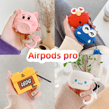 3D Earphone Case For Airpods Pro Case Soft Silicone Cartoon Pig Anime Headphone/Earpods