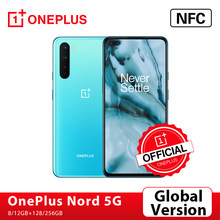 Versão global original oneplus nord 5g OnePlus Official Store snapdragon 765g smartphone 8gb 128gb 6.44 90 90 90hz amoled 48mp quad cams warp carga 30t; For Brazail new buyer: 1PLUS($20-12)