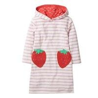 Vestidos da menina da criança animais applique unicórnio coelho vestido de natal princesa traje de algodão roupas de bebê crianças vestido de festa 2-7y