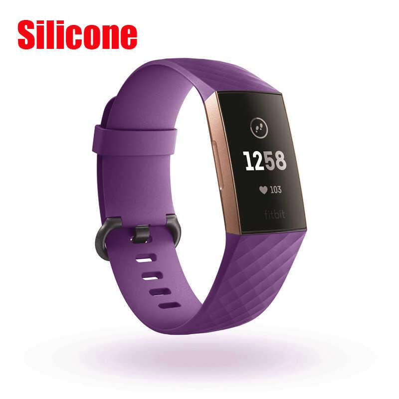 Milanese المغناطيس حزام ل Fitbit تهمة 3 لتهمة 2 حزام لياقة الفولاذ المقاوم للصدأ الرياضة حزام (استيك) ساعة استبدال المعادن سوار