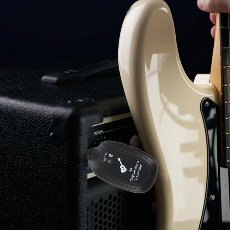 UHF kitarski brezžični sistemski oddajnik sprejemnik vgrajen - Glasbila - Fotografija 4