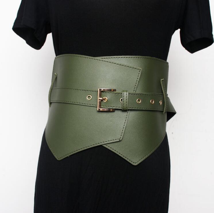 Women's Runway Fashion Pu Leather Cummerbunds Female Dress Coat Corsets Waistband Belts Decoration Wide Belt R2191