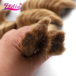 Image 3 - Lidia extensiones de cabello sintético para mujer, paquete de extensiones de cabello sintético de 18 a 24 pulgadas, sin trama, a granel, 2 unidades por paquete, color rubio esmerilado