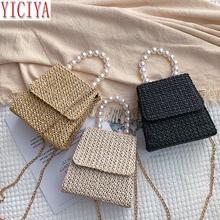 Straw Bag Handbags Women Summer Rattan Bag Wild Messenger Bag Fashion Shoulder Small Square Handmade Woven Beach New Bolso Mujer 2019 new women s shoulder messenger bag fashion wild lady bag magnetic buckle opening simple small square package bolso mujer