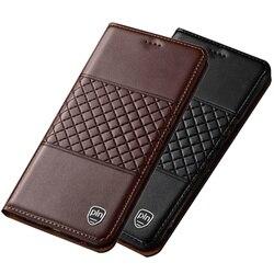 На Алиэкспресс купить чехол для смартфона genuine leather phone bag case credit card slot holder coque for lg g8s thinq/lg g8 thinq/lg g7 thinq phone holster stand funda