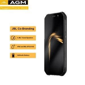 "Image 2 - Orijinal AGM A9 4G RAM 64G + kılıf hediye ROM 5.99 ""Android 8.1 5400mAh IP68 su geçirmez sağlam telefon dört kutusu hoparlörler NFC"