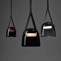 BROKIS Mona Glass Pendant Lights Modern Belt Hanging Lamp Dining Room Kitchen Light Fixtures Loft Industrial Home Decor Lighting