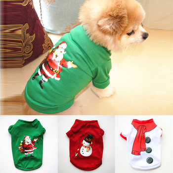 Christmas Dog Clothes Soft Pet Clothes For Small Medium Dogs Vest 2021 New Year Happy Cat Puppy Costume Dogs Winter Warm Sweater image