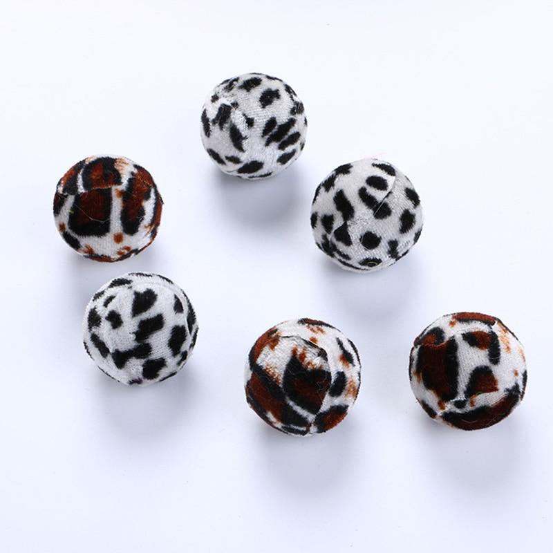 Игрушка для домашних животных плюшевые шары Леопард интерактивная