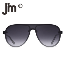 JM One Piece Shield Sunglasses for Men Women Flat Top Rimles