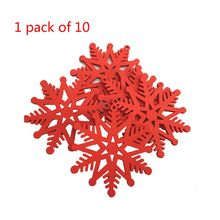 DIY Snowflake Creative Wooden Christmas Tree Pendant Home Decoration Gift Accessories Ornaments Carved Wood Chips