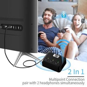 Image 3 - MR275 беспроводной bluetooth 5,0 аудио передатчик aptX HD ll оптический коаксиальный 3,5 мм Aux RCA аудио приемник адаптер двойной связи ТВ ПК