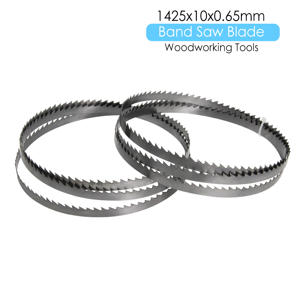 "2pcs 56"" Bandsaw Blade 1425 X 10 X 0.65mm TPI 6 Carbon Spring Steel For Cutting Wood Metal Plastic"
