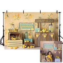 Mehofond meyve limon dükkanı fotoğrafçılık arkaplan Backdrop yenidoğan doğum günü partisi çocuk Photophone Photocall fotoğraf stüdyosu Prop
