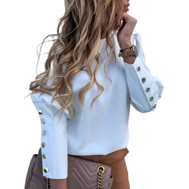 He0ae519cec874c818e7ee0129de6e686J - Elegant White Blouse Shirt Women's Long Sleeve Buttton Fashion Woman Blouses Womens Tops and Blouses Solid Spring Tops