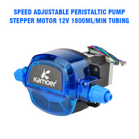 Stepper Motor Speed Adjustable Peristaltic Pump Stepper Motor 12V 1800ml/min Tubing 35# Electrical Equipment Supplies Accessorie