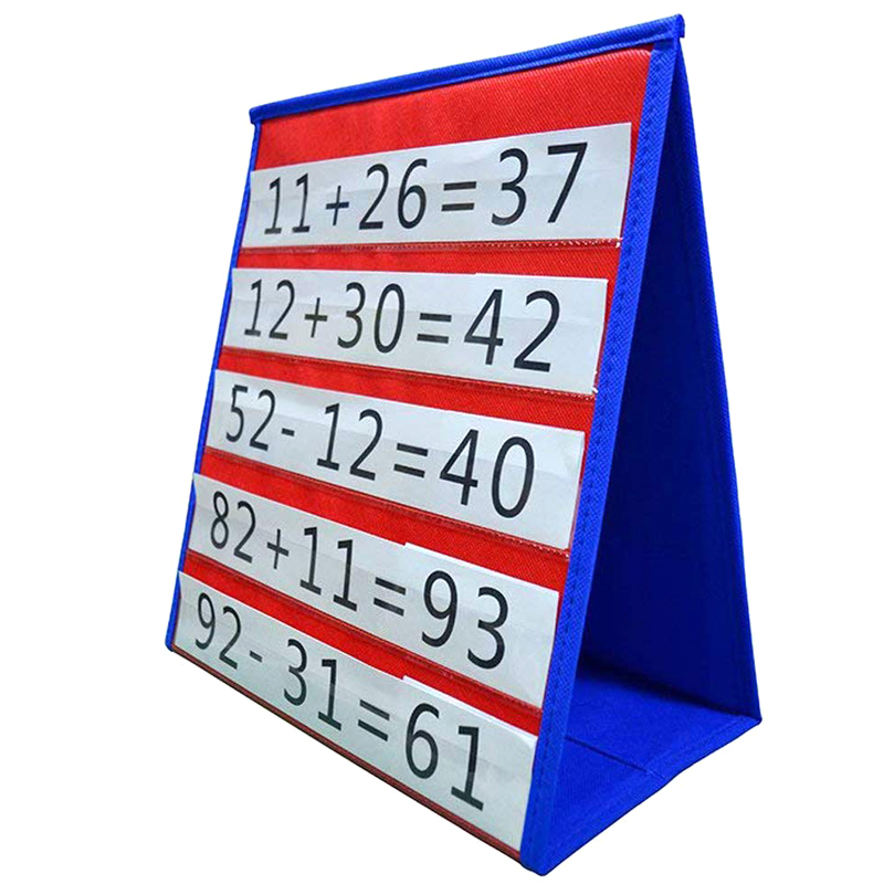 Desktop Pocket Chart Teaching Double-sided Self-standing Foladble For Classroom KQS8