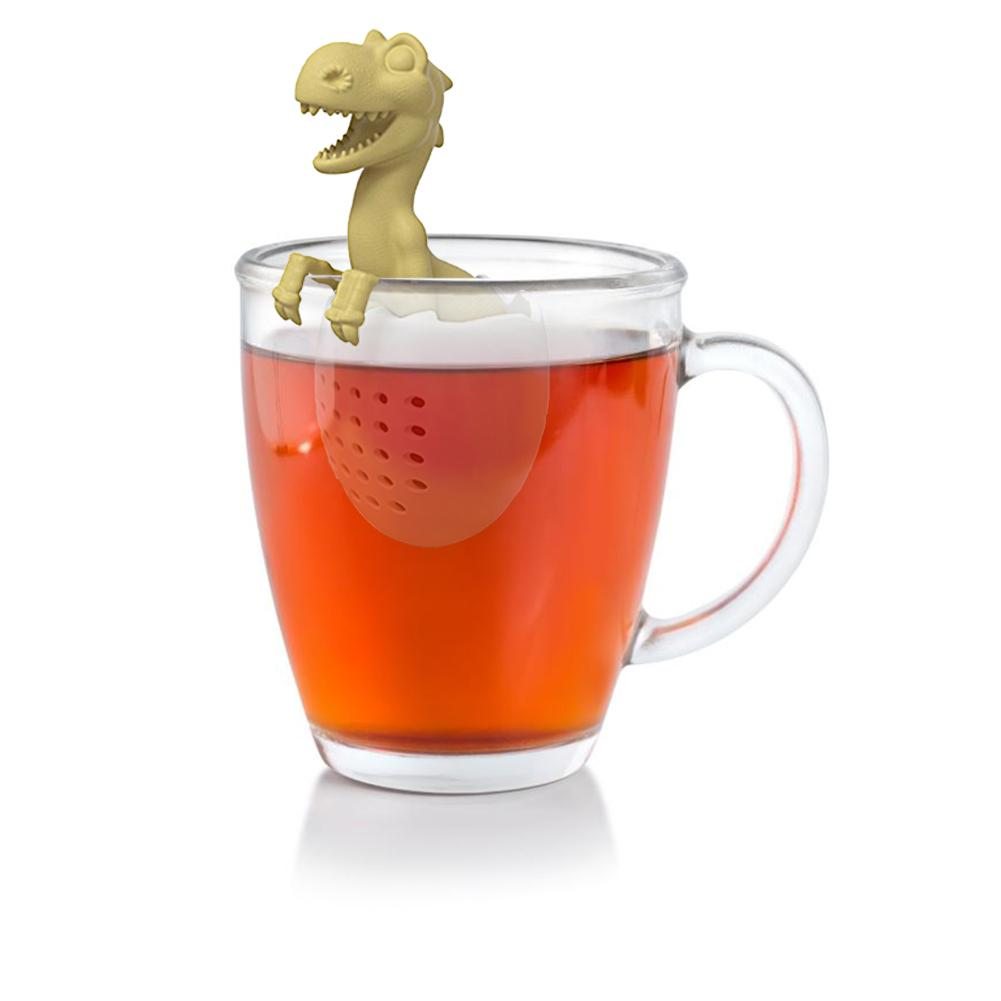 Tea Bag Silicone Leaf Herbal Spice Filter Baby Dinosaur Shape Tea Infuser Strainers Reusable Loose Filter