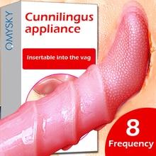 Omysky Tongue Vibrator Vagina Tight Oral Licking Clitoris Stimulator vibrator Dildo